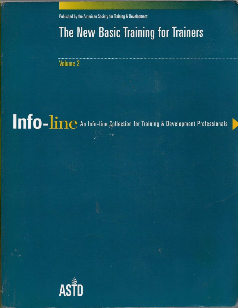 The New Basic Training for Trainers- INFO LINE VOL 2
